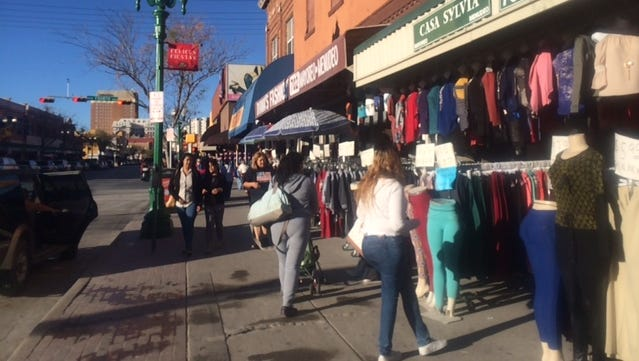 The weakened peso has not deterred thousands of Mexican shoppers from crossing into El Paso.