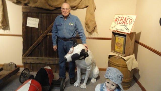 Gary Morgan at Webster Museum and Historical Society.