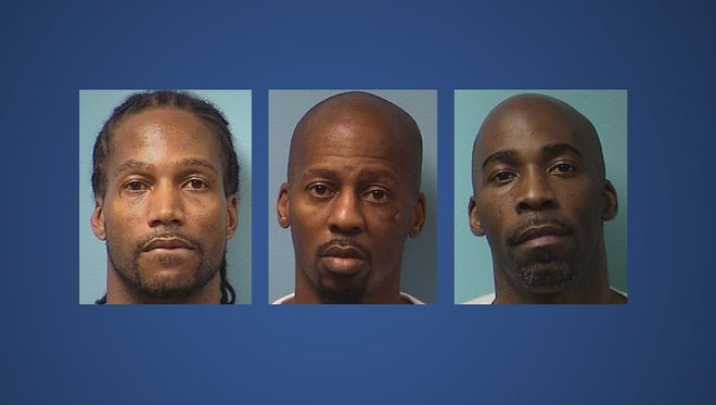 Jonathan Woods, 45, Lamont Tyson, 45, and David Tyson, 41