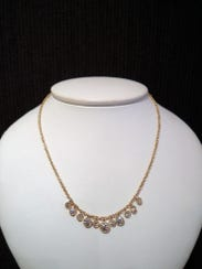 This necklace is made from diamonds re-purposed from