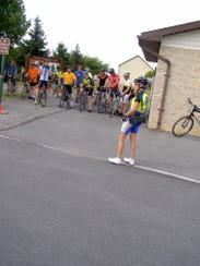 Karen Keefer, a nurse who founded Franklin County Cyclists,