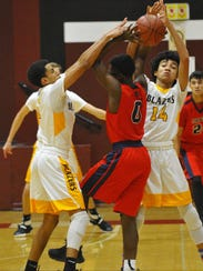 Golden West's Abell Abraham and Shemar Smith battles