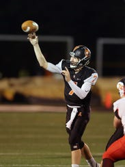 Anderson quarterback Jay Volpenhein attempts a pass