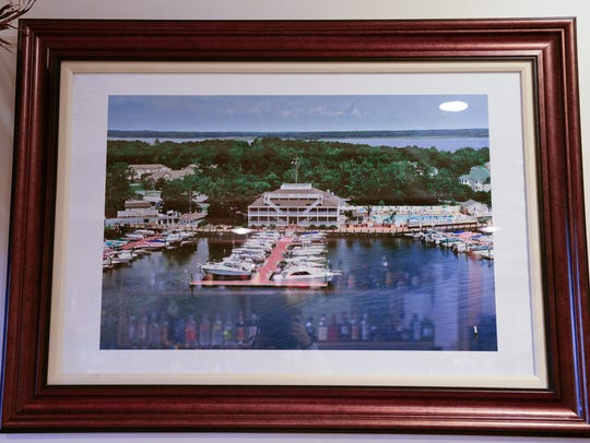A photo of the old yacht club in Ocean Pines before