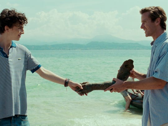 """Timothee Chalamet, left, and Armie Hammer in """"Call Me By Your Name."""""""