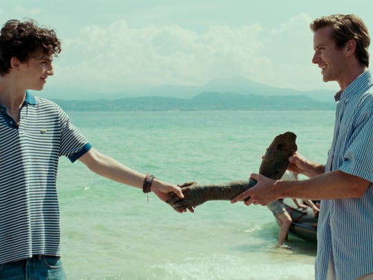 "Timothee Chalamet, left, and Armie Hammer in ""Call Me By Your Name."""