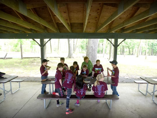 Lebanon County's 23rd annual Elementary School Envirothon, held at Coleman Memorial Park in Lebanon, kicked off Thursday morning, May 12, with outdoor studies in aquatics, forestry, wildlife, and a learning center. The envirothon is sponsored by the Lebanon County Conservation District.