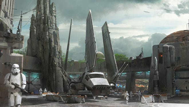 Star Wars-themed lands will be coming to Disneyland park in Anaheim, Calif., and Disney's Hollywood Studios in Orlando, Fla., transporting guests to a never-before-seen planet, a remote trading port and one of the last stops before wild space where Star Wars characters and their stories come to life.