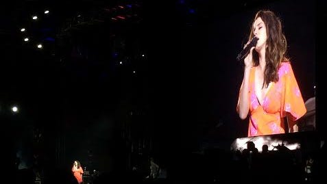 Lana Del Rey drew a huge crowd to the Outdoor Theatre on Sunday night.