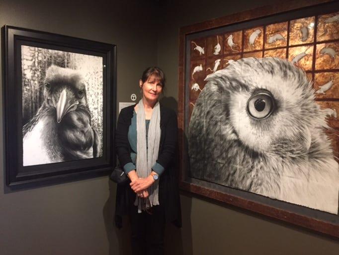 Karen Bondarchuk poses next to a few of her favorite