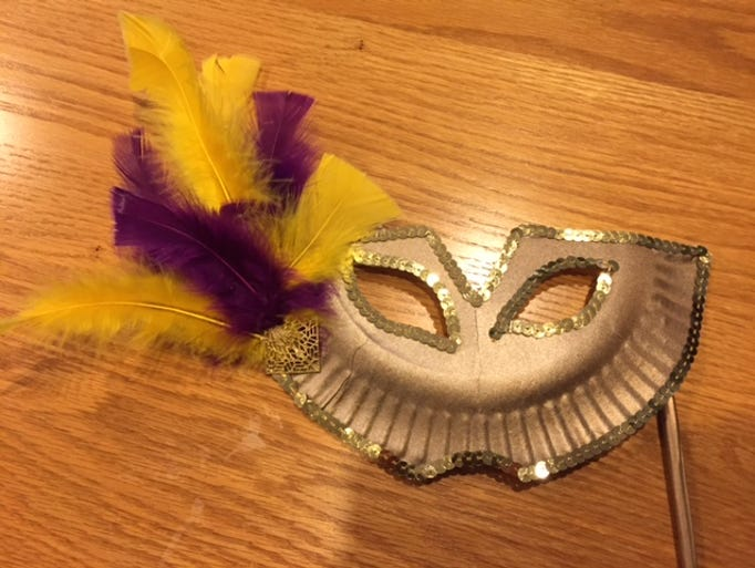 This was the first mask I made and one of my favorites.