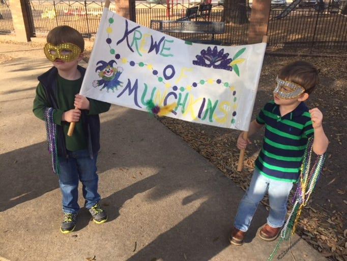 The Krewe of Munchkin rolled Thursday around the playground