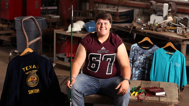 Sinton High School student Richard Chase Jurach was awarded the 2016 Corpus Christi Caller-Times Distinguished Scholar in the category of career.