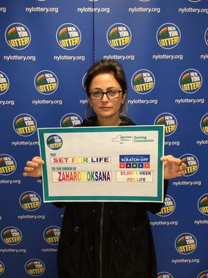 Oksana Zaharov from Edgewater, N.J., won $5 million after buying a Set For Life ticket in New York.