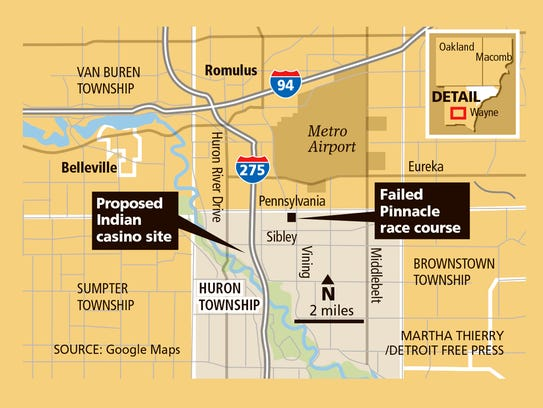 Proposed Indian casino site and site of failed Pinnacle
