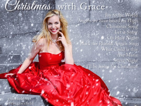 The back cover and track listing of Grace Field's debut CD. Field also applies her operatic vocals to musical theater.