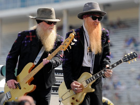 ZZ Top members Dusty Hill, left, and Billy Gibbons