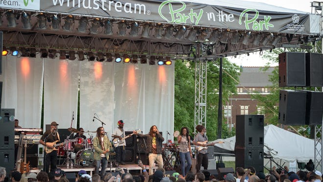 The Wailers perform at the Windstream Party in the Park in 2014, after it had returned to Martin Luther King Jr. Park.