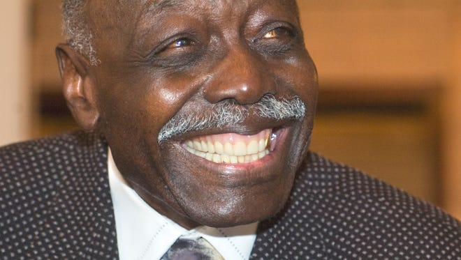 "Voni Grimes is known for what a Rotary speaker Tuesday afternoon called his 'infectious smile""."