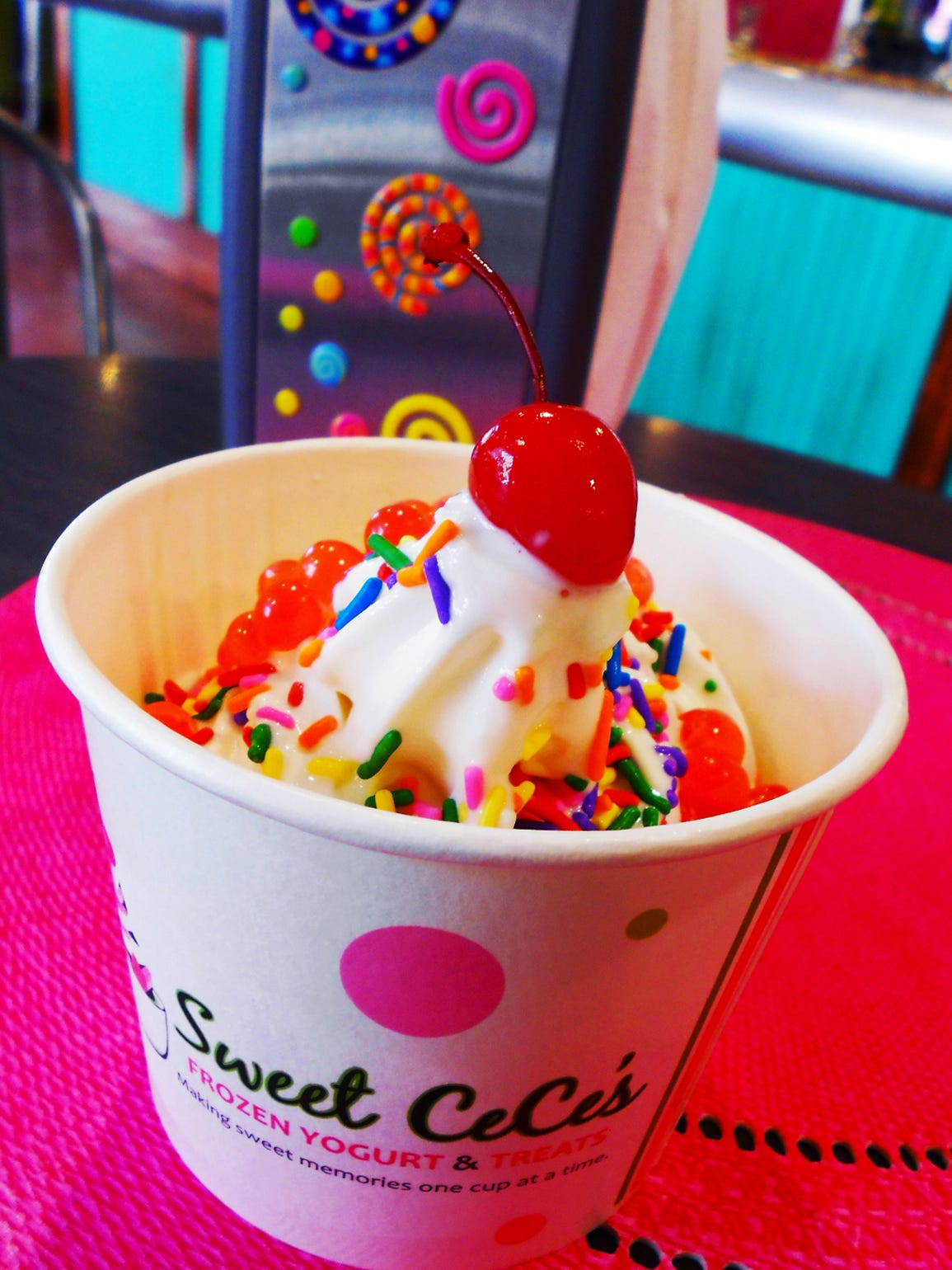 Sweet Cece's offers daily specials including a double