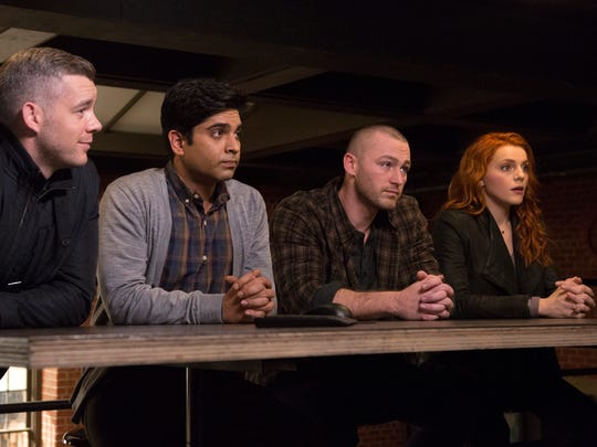 """Fort Myers High graduate Vandit Bhatt, second from left, acts in a scene on the ABC show """"Quantico."""""""