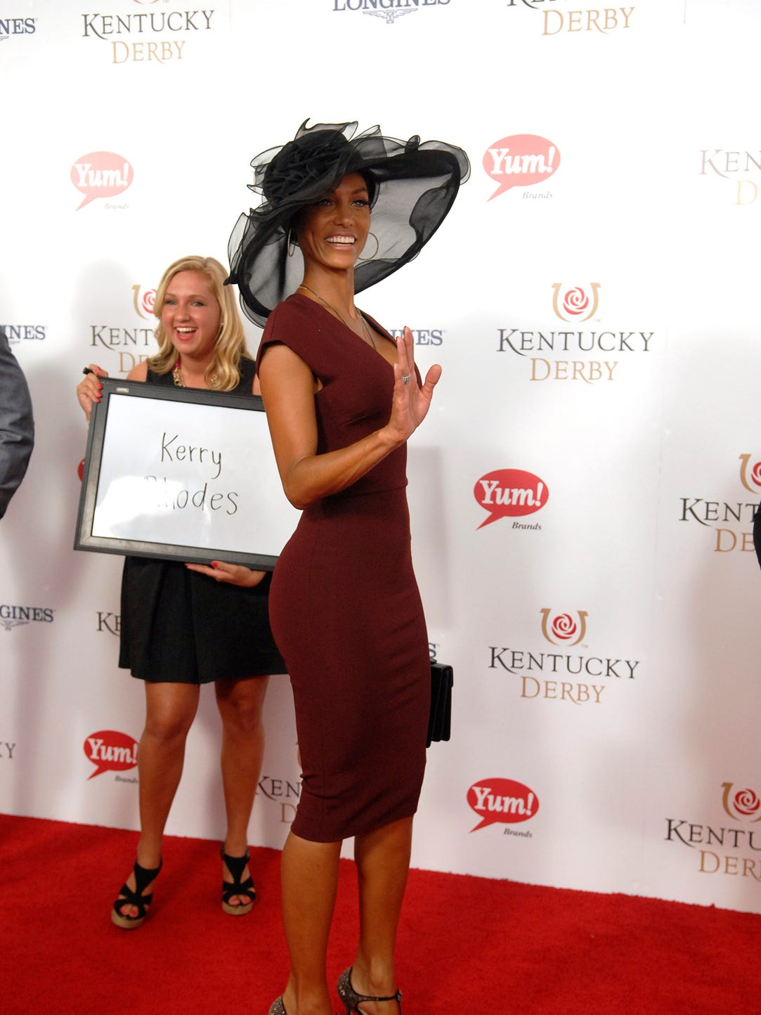 Nicole Murphy poses for a photo on the Derby Red Carpet.  May 03, 2014