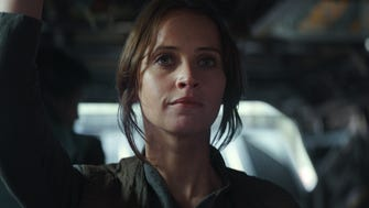 Felicity Jones stars as rebellious new heroine Jyn Erso in 'Rogue One: A Star Wars Story.'