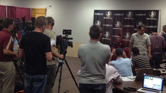 Florida State quarterback Sean Maguire during his Thursday news conference