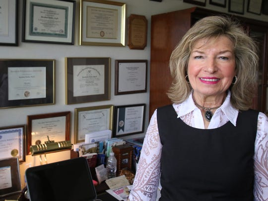 """Rosalind Dorlen, a PhD clinical psychologist pictured in her office in Summit, says we are living in a culture of perfectionism, and people are taking energy drinks, caffeinated drinks, or prescription drugs because they see them as cognitive performance boosters. Dorlen says she calls it """"cosmetic surgery of the mind."""""""