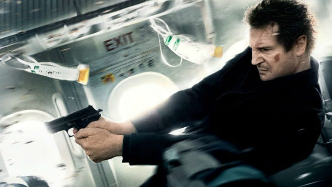"Liam Neeson in a scene from the movie ""Non-Stop."""