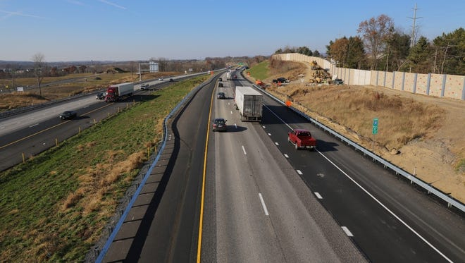 PennDOT recently widened Interstate 81 to six lanes at Pa. 114 (Exit 57) in Dauphin County. Southbound traffic is shown.