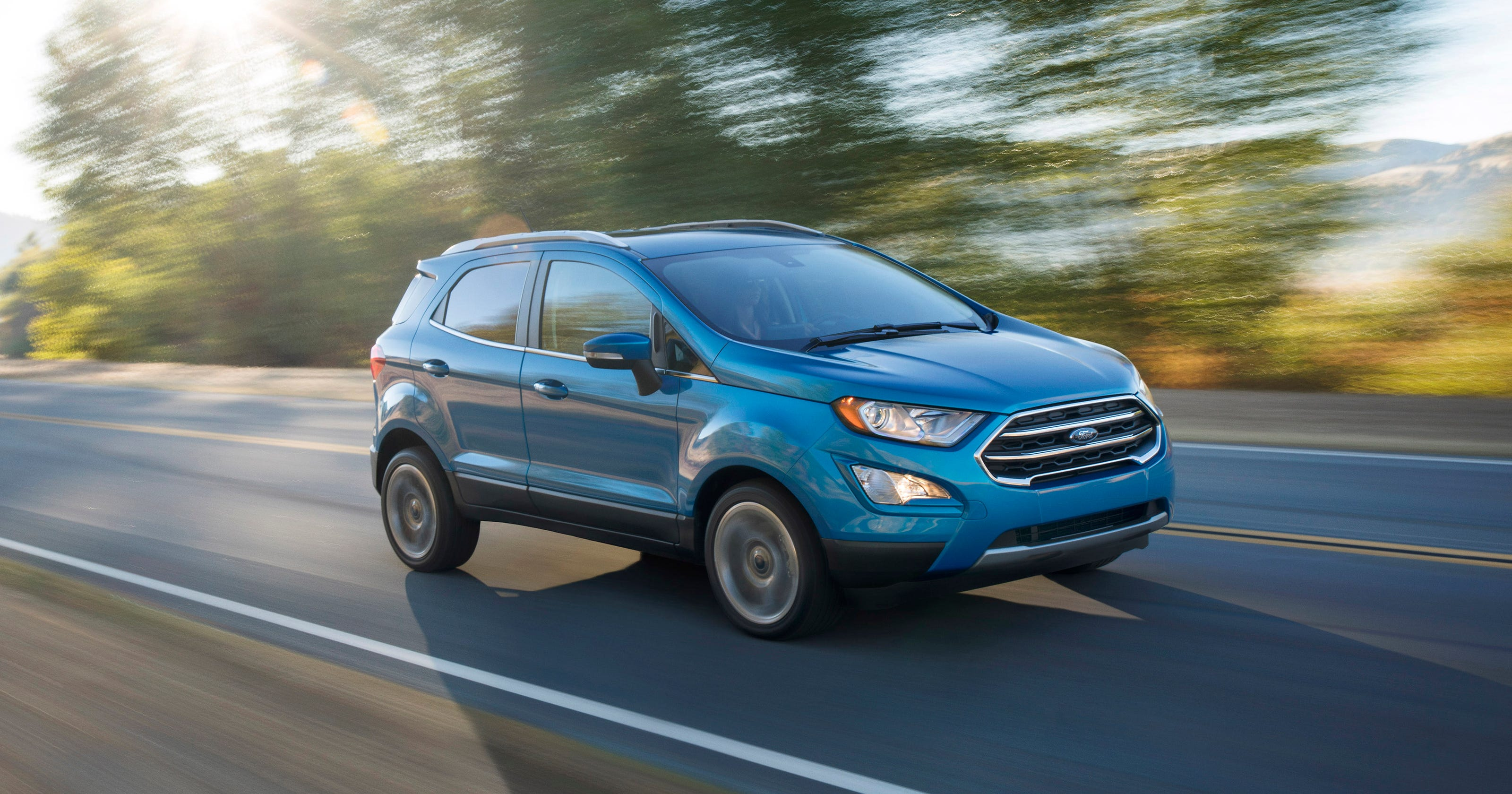 Review 2018 ford ecosport suv arrives late and struggles to compete