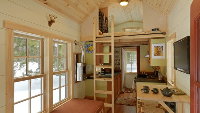 A big trend this year, according to experts, is the tiny home, which features about 400 square feet of comfortable living space.