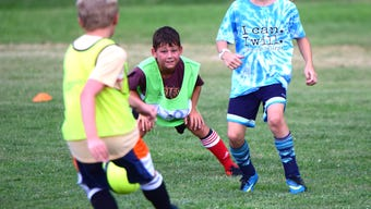 Three soccer fields were in full use Wednesday at VSDB as roughly 50 boys and girls took advantage of the soccer association final night of summer games.