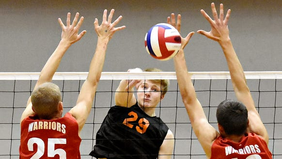 York Suburban's Jack Schultz, center, has earned all-state