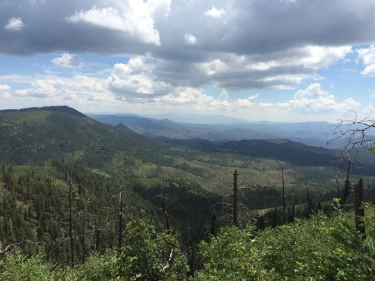 The view from Blue Vista overlook, just a few miles