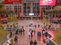 This is the new signage on the exterior of Gila River Arena in Glendale.  It was formerly known as Jobing.com Arena.