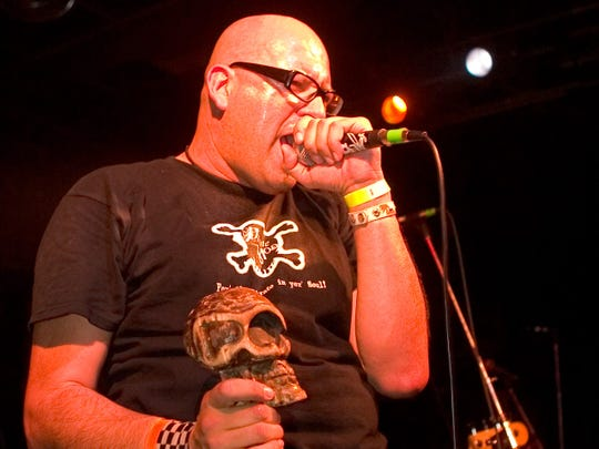 Frank Casillas performed with Voodoo Glow Skulls at a concert at the Melody Inn in 2016.