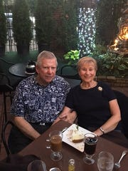 Roberta and Howard Young at La Dolce Vita in Detroit in August 2016 for their anniversary dinner.
