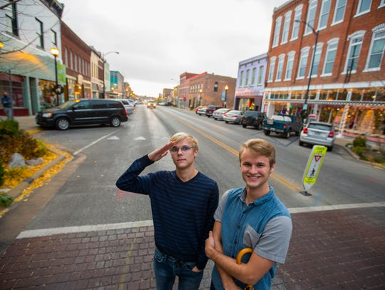 Central High School students and twin brothers Caleb (right) and Joshua Conaway produced a 'North Side Pride' rap video that has racked up more than 10,000 views on YouTube.