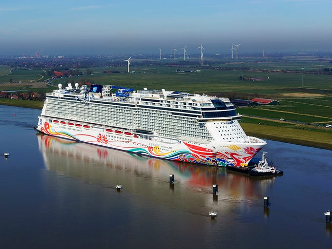 Completed in April 2017, Norwegian Cruise Line's Norwegian