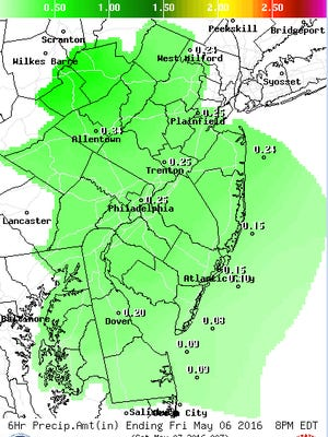 Rain is expected through Friday, with the potential for rain this weekend too.