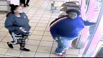 Glendale police want to identify these two women captured on video surveillance footage from McDonald's, 5344 N. Port Washington Road, at10:49 a.m. Sunday March 18. The woman in the front allegedly pushed a 17-year-old female employee, causing her to hit her head on a fryer.