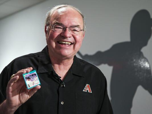 Diamondbacks Owner Ken Kendricks Baseball Cards On Display