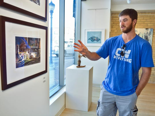 Local artist Dan Mondloch talks about two of his paintings