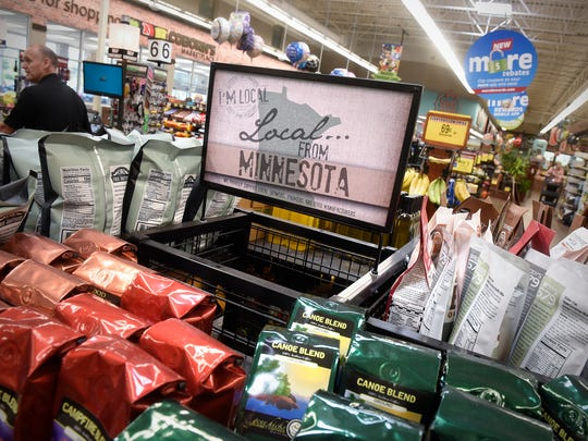 A display of Minnesota-produced products is pictured