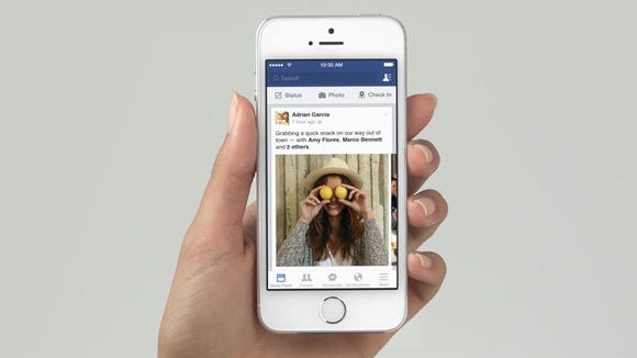 Facebook News Feed on mobile
