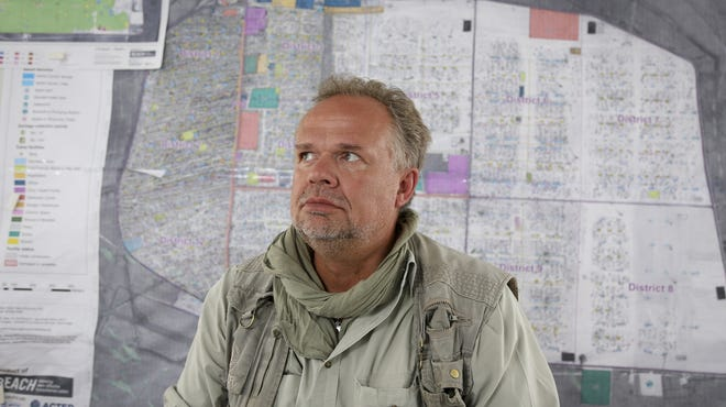 """""""Making money fast seems to be the theme of the day,"""" says Kilian Kleinschmidt. manager of the  Zaatari refugee camp near the Syrian border."""