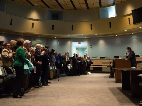 Las Cruces Mayor Ken Miyagishima delivers his annual