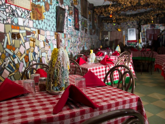 The dining room at Scotti's Italian Restaurant in downtown
